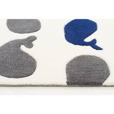 eidum navy blue u0026 grey whale kids rug
