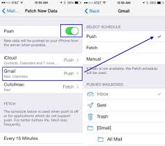 fetch or push set your email accounts to maximize battery life