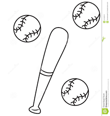 baseball coloring page stock illustration image 54102013