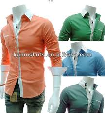 fashion candy colors luxury collar mens fitted formal party casual