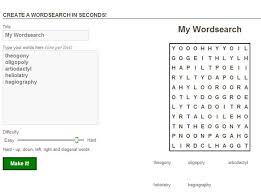 10 websites to make and print word search puzzles