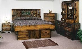 Carolina Rose Pine Waterbed Furniture - Carolina bedroom set