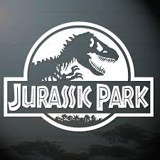 1 piece jurassic park dinosaur bone skull decals sticker vinyl die
