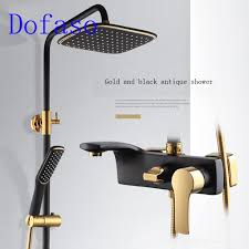 online get cheap white bath faucets aliexpress com alibaba group dofaso shower black set faucet luxury all copper white bathroom shower bath mixer black brass shower