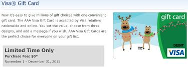 no fee gift cards aaa selling no fee visa gift cards again till 12 31 danny the