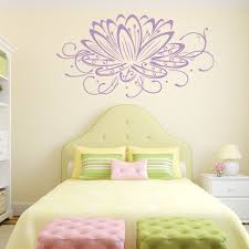 lotus flower wall decal flower decals customvinyldecor com lotus flower wall decal flower decals lilac loading zoom