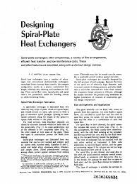 che designing spiral heat exchanger may 1970 heat exchanger
