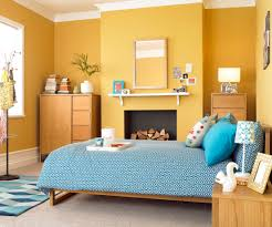 bedroom bright yellow paint colors for modern design with wood