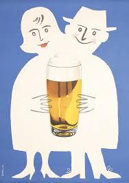 cartoon beer pint original vintage 1950s german beer poster ad lib pinterest