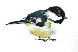 watercolor tutorial chickadee watercolor painting chickadee original painting bird painting 6