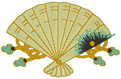 japanese fans decorative japanese fan set embroidery design