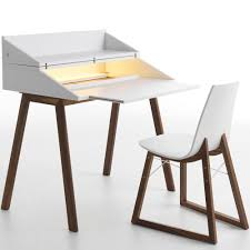 contemporary bureau desk horm bureau writing desk with led light with chair panik design
