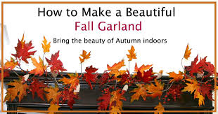 fall garland how to make a fall garland for a bookcase shannon s grotto