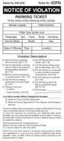 sample parking ticket template sanjonmotel