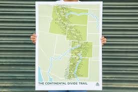Continental Divide Map Continental Divide Trail Posters U2022 Mama U0027s Sauce