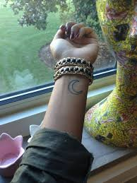 moon tattoo on wrist tattoomagz