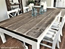 build a rustic dining room table stone top table blue and white