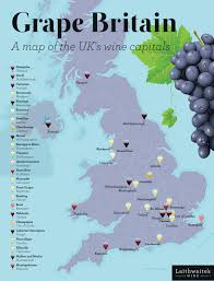 Blank Map Britain by Grape Britain A Map Of The Uk U0027s Wine Capitals Laithwaite U0027s Wine