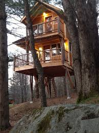 Vermont travel ideas images Tree house amazing treehouse two story treehouse moose meadow jpg