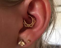 ear piercing hoop cartilage piercing etsy