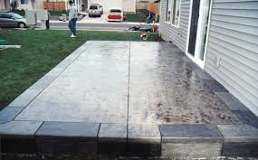 Backyard Concrete Patio Designs Concrete Patio Ideas In Fabulous Deckpatio Ideas Together With