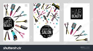 barber shop haircut beauty salons banners stock vector 511270501