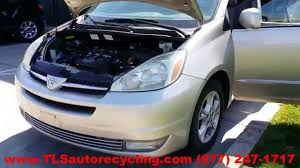 nissan sienna 2008 parting out 2004 toyota sienna stock 4049bl tls auto recycling