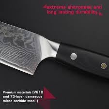 vg10 kitchen knives haoye 8 inch damascus chef knife japanese vg10 steel kitchen knives