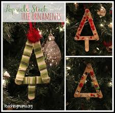 popsicle stick tree ornament