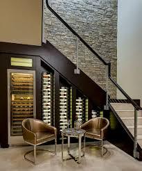 kitchen decorative interior design under stairs wine storage