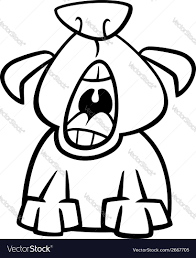 dog yawn cartoon coloring page royalty free vector image