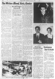 news paper writing ernest hemingway was a writer with guts and genius ny daily news new york daily news published this on july 1 1961