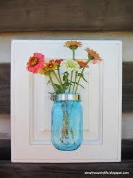 Repurpose Cabinet Doors Simply Country Cabinet Door Repurposed Into Jar Wall Vase