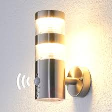 Outdoor Wall Sconce With Motion Sensor Motion Sensor Wall Lights With Outdoor Light In Just A Swipe And 7