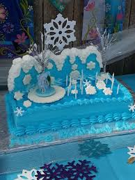 frozen themed slab cake cakes cupcakes kids birthday