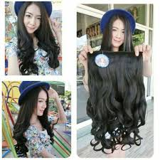 harga hair clip curly hairclip big layer wave 50 cm