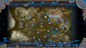 The Forest Map The Legend Of Zelda Breath Of The Wild Unbreakable High