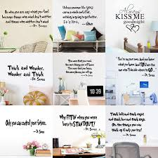 dr seuss home decor art stickers quote removable vinyl murals wall
