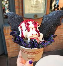bat wing halloween sundae at disneyland popsugar food