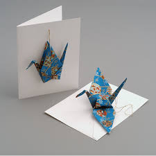 crane card ornament the paper crane origami