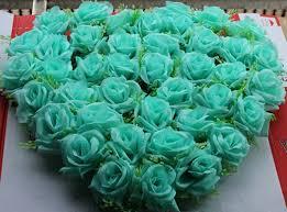 mint green flowers 40x40cm wedding car decoration royal blue wedding decoration mint