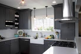 kitchen grey cabinets white kitchen grey walls interior design