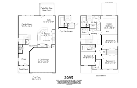 2 Car Garage Floor Plans 2095 Plan Home Builders In Augusta Ga