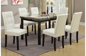 Faux Marble Top Dining Table Elivia Marble Top Dining Table Set
