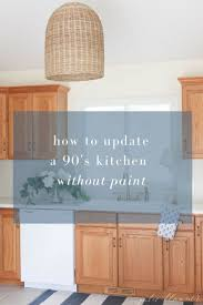 how to modernize honey oak cabinets update a dated kitchen without to paint the cabinets