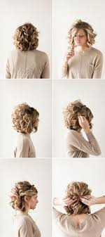 curly hair updos step by step sweet and simple romantic and easy up do on naturally curly hair