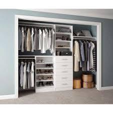 white home decorators collection wood closet organizers