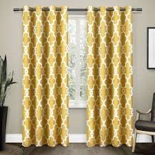Yellow And Grey Window Curtains Grommet Yellow Curtains Drapes Window Treatments The