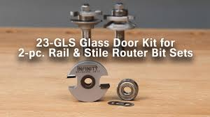 make glass cabinet doors with this glass door router bit accessory