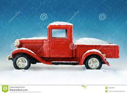 christmas red pickup truck stock illustration image of truck